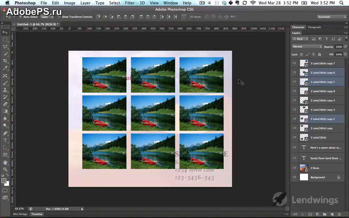 видеоурок photoshop: Выравнивание слоев Photoshop